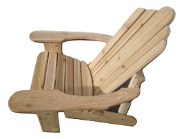 "Long Beach Adirondack Chair Hand Crafted In Natural 1"" Thick Western Red... - £130.78 GBP"