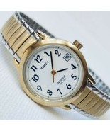 Timex Indiglo Easy Reader T2H381 Women's Date Watch Brass Expansion Band... - $24.75