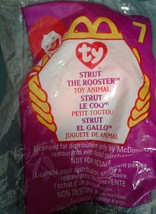 McDonald's Teenie Beanie Baby Strut The Rooster, 1999 # 7  NEW - $4.37