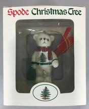 "Spode Christmas Tree Teddy Bear Wearing Sweater & Scarf Ornament 3"" NEW  - $27.93"