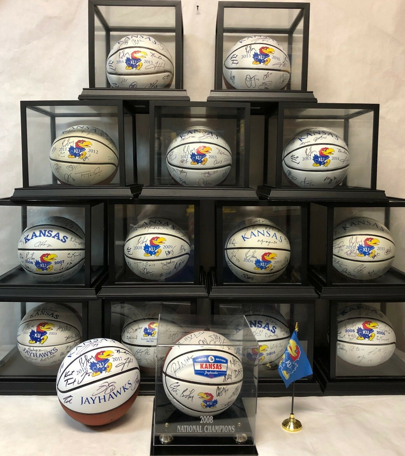 Primary image for The ULTIMATE 15-Ball KU Jayhawks Men's Basketball SIGNED Basketball Collection!