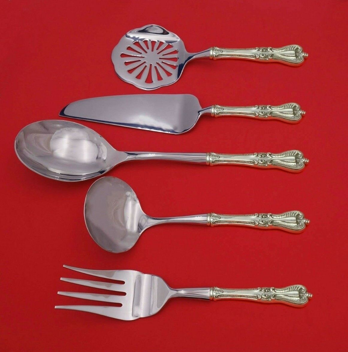 Primary image for Old Colonial by Towle Sterling Silver Thanksgiving Serving Set 5pc Custom Made