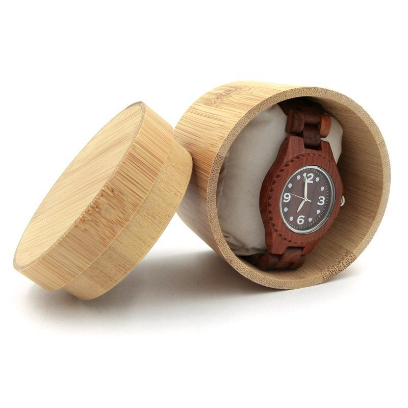 Primary image for New Fashion Round Wooden Watch Box Pure Bamboo Wood Vintage Watch Box For Men Wo