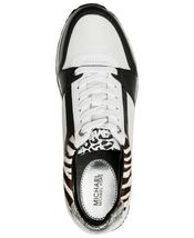Michael Kors MK Women's Billie Trainer Mesh Sneakers Shoes Black Optic White image 3