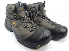 Keen Braddock Mid Top Steel Toe Size 10.5 Slip Resistant Men's Work Boots Gray