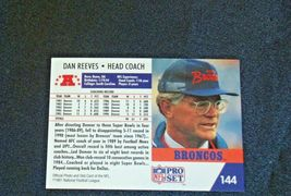 John Elway #7 Denver Broncos and Dan Reeves Trading Cards AA-19FTC3005a Vintage image 8