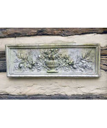 """Roses and Urn Decorative Wall Sculpture relief plaque 33.5"""" - $98.99"""