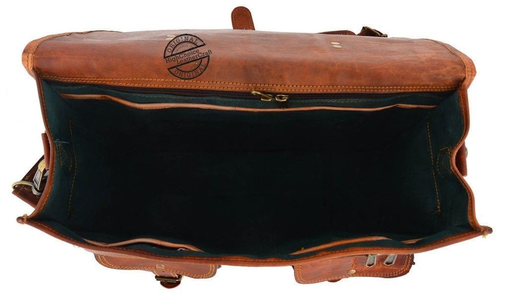 Men's New Genuine Vintage Brown Leather Messenger Shoulder Laptop Bag Briefcase image 3