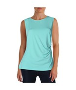 Tommy Hilfiger Turquoise  GREEN Sleeveless Side-ruched Blouse - $17.00
