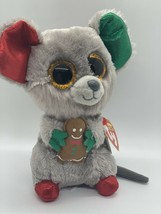 Ty Beanie Boos MAC the Holiday Mouse Plush Stuffed Toy w/ Gingerbread Ma... - $27.72