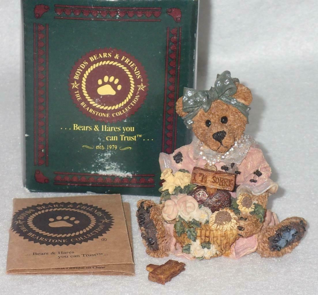 Boyd Bearstone Resin Bears Justina The Message Bearer Figurine #2273 27E NEW image 2