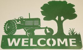 Tractor Welcome Sign Metal Wall Art - $68.50