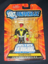 Sinestro DC Universe Justice League Unlimited Action Figure 4in Mattel 2008 - $12.00