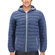 Men's Puffer Hooded Lightweight Zip Insulated Packable Quilted Jacket image 3
