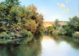 Landscape with Boat & Men by Emilio Sanchez-Perrier Old Masters Print - $24.74