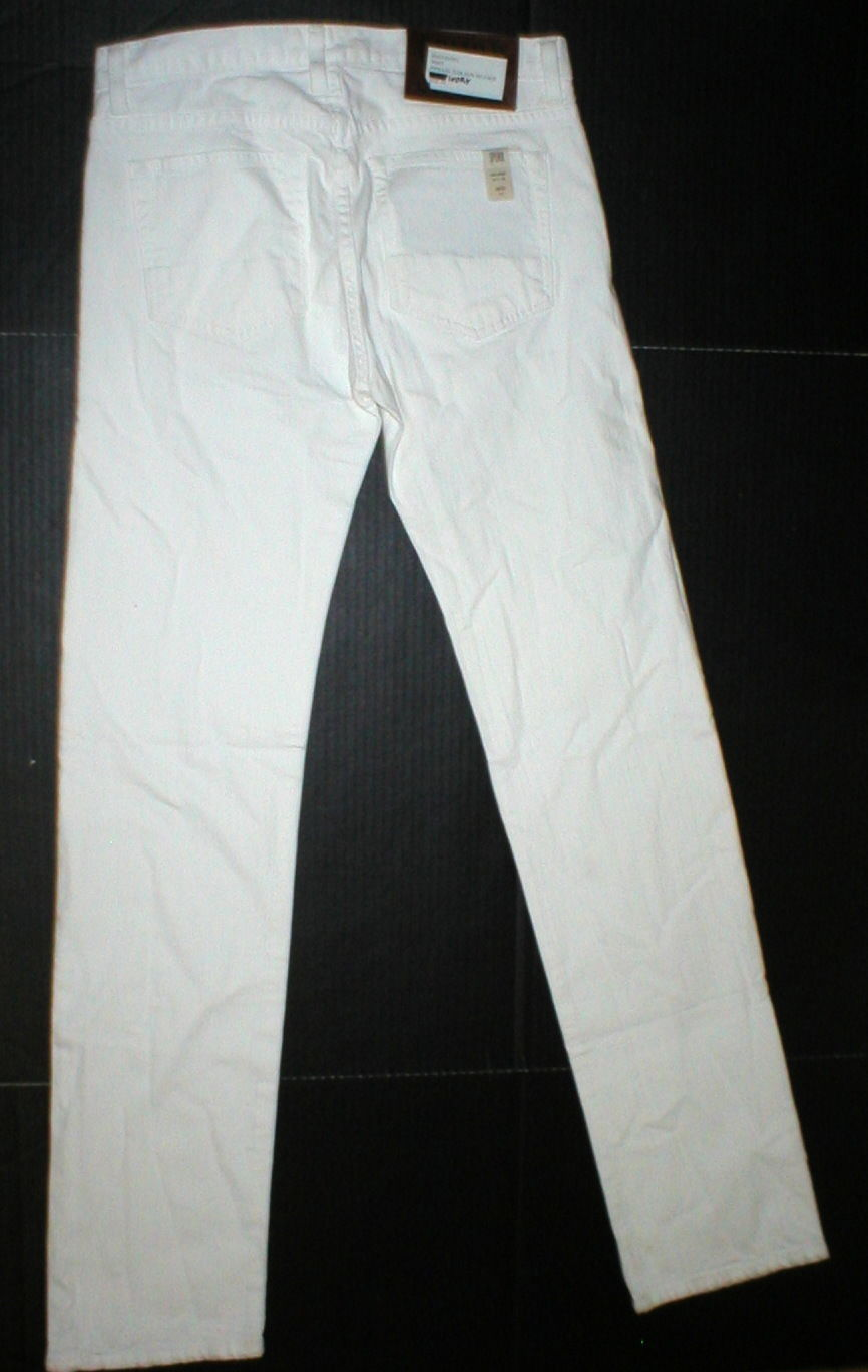 New NWT 30 x 34 Mens Designer Spurr Pipe Jeans USA White Logo Belt Patch Slim image 6
