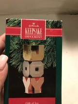 "NIB 1991 Hallmark Keepsake Ornament ""Gift of Joy"" Chrome, Brass and Copper - $6.79"