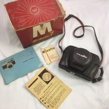 Vintage Minolta HI-MATIC 7 Camera w/Case, Original Box & Paperwork - $69.29