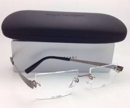 Neu Kazuo Kawasaki Brille Mp 714 34 50-19 140 Titan Rahmenlose Grau Rahmen