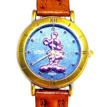 Mickey Mouse Rose Gold Silhouette, Lorus Disney New Ladies Watch Leather... - $97.86