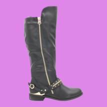WILD DIVA Oksana-02 Women's Tall Faux Leather Boots - Black - Size 5.5 - NEW  - $28.04