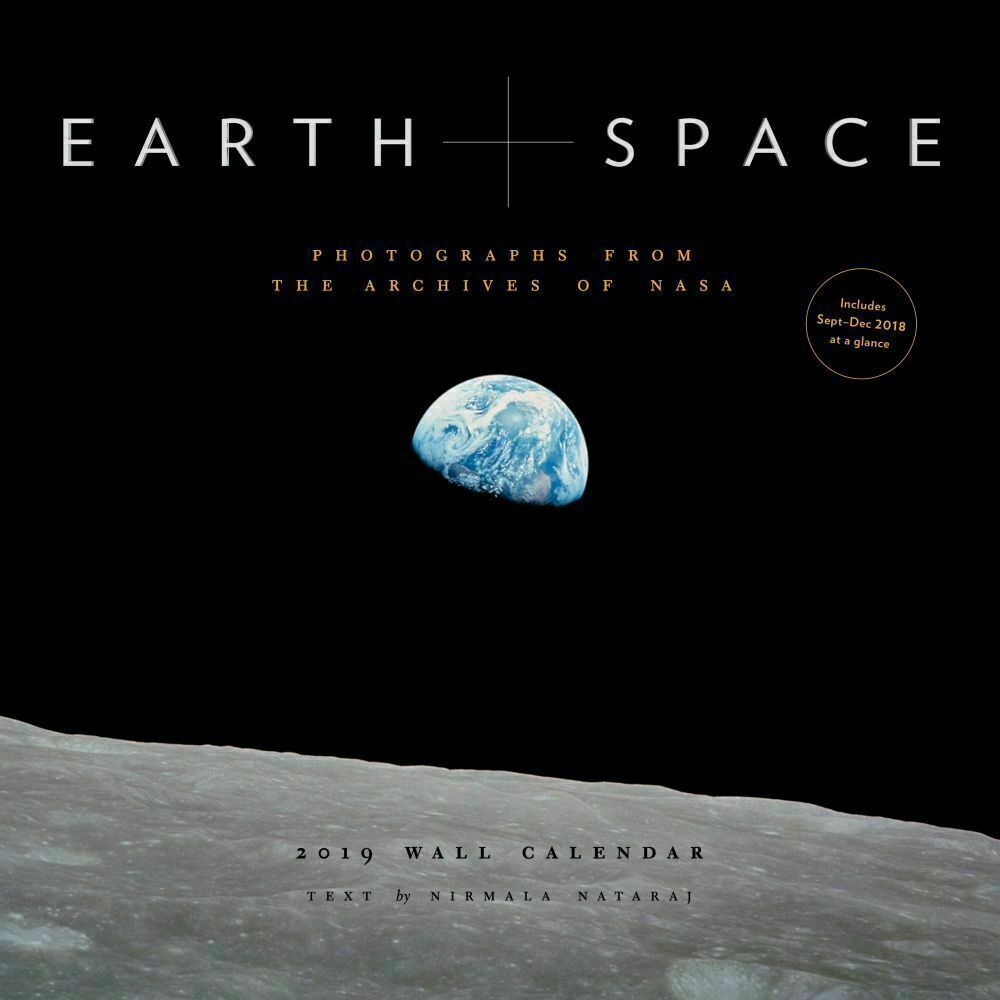 NEW 2019 Sealed 12x12 Earth and Space Astronomy Wall Calendar by Chronicle Books