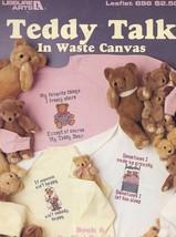 Teddy Talk In Waste Canvas Book 6 3 Designs LA696. Cross Stitch PATTERN - $1.32