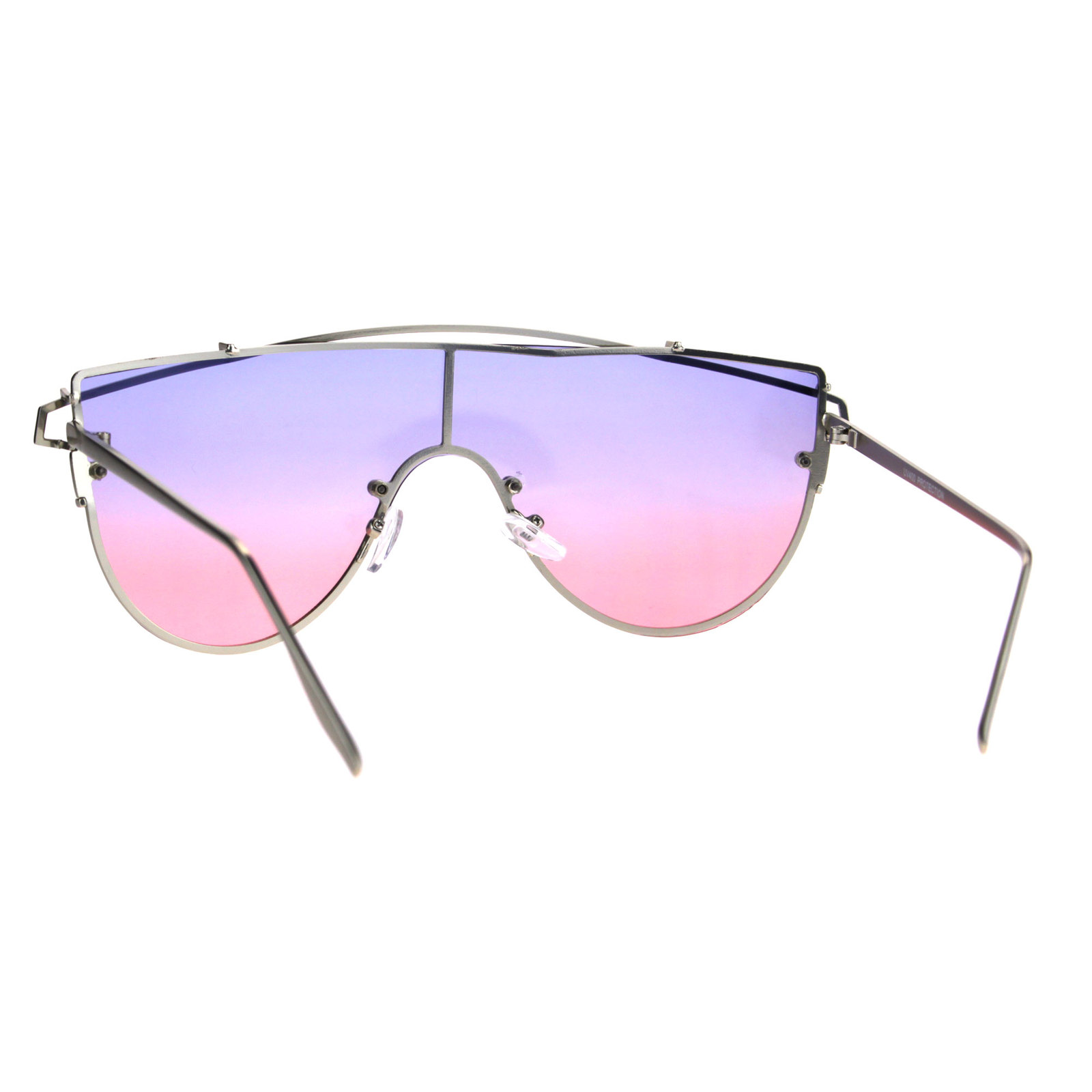 Oceanic Tie Dye Gradient Shield Robotic Futurism Sunglasses