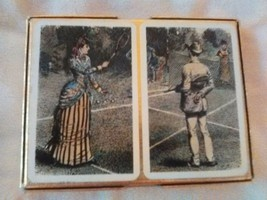 Beautiful VINTAGE PLAYING CARDS| Depicts High Society Outdoors| Made In ... - $19.60