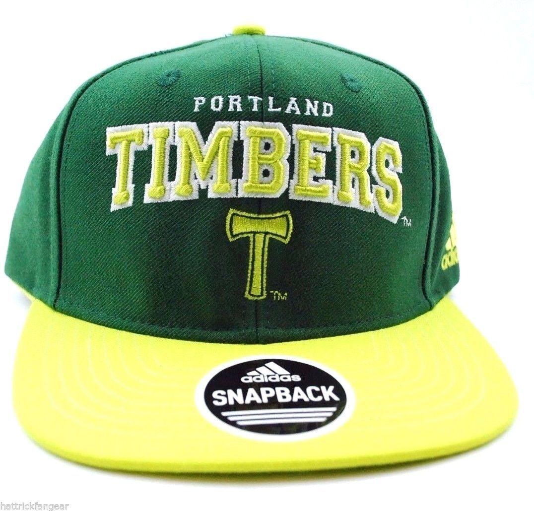 hot sale online db4ed 5758e Portland Timbers adidas NT72Z MLS Soccer Team Logo Flat Brim Snapback Cap  Hat