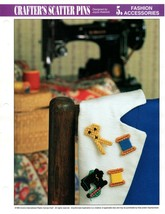 Plastic Canvas Pattern - Crafter's Scatter Pins- Fashion Accessories - $0.98