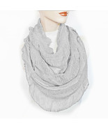New CEJON Soft Cozy Shiny Ruched Infinity Scarf Women's Lightweight Loop... - $10.38