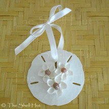 Sand Dollar Shell Flower Seashell Christmas Ornament Coastal Decor Beach... - $10.99