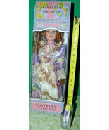 Cathay Collection Porcelain doll with Auburn hair and hat. Loose in box ... - $26.73