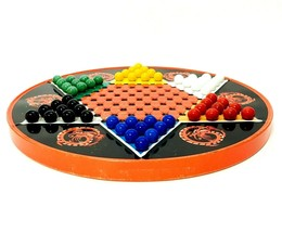 Vintage Ohio Art Chinese Checker's Tin Marbles And American Checkers - $20.30
