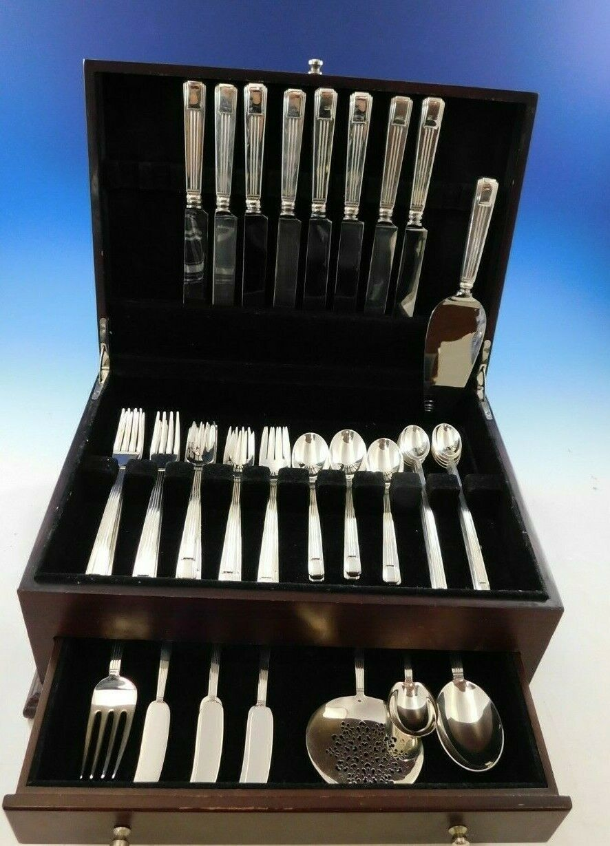 Century by Tiffany & Co Sterling Silver Flatware Set 8 Service 53 pcs Dinner image 2