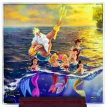 Thomas Kinkade Disney's Little Mermaid Prints 4 Piece Fused Glass Coaster Set image 5