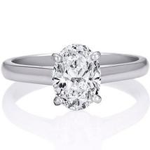 1.48CT Women's 4 Prong Oval Shape VS2-D Solitaire Diamond Engagement Rin... - $7,320.19