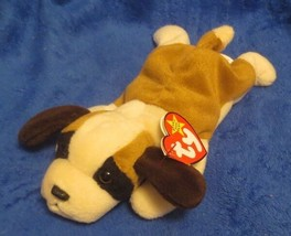 Ty Beanie Baby Bernie St. Bernard 4th Hang Tag PVC Filled - $8.90