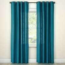 "84""x54"" Natural Solid Light Filtering Curtain Panel Blue - Threshold - $15.79"