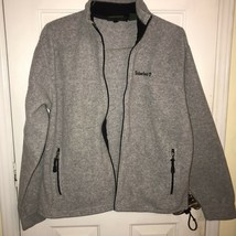 VTG Gray Timberland x Polartec Long Sleeve Fleece Full Zip Jacket Sz Medium - $11.57