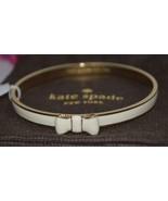 NEW Kate Spade New York 14K Gold Plated Cream Moon River Bow Bracelet Ba... - $34.64