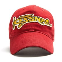 Cessna Vintage Logo Baseball Cap, Red, General Aviation, Airplanes  HAT-... - $25.69