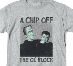 The Munsters t-shirt Herman & Eddie Chip Off the Ol' Block graphic tee NBC908 image 2