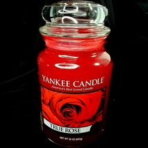 Classic Yankee Candle TRUE ROSE Large Jar 22oz Red Floral RETIRED - $21.88