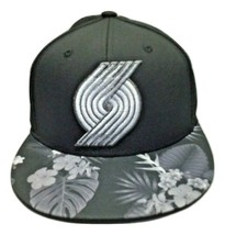 Portland Trail Blazers NBA Black adidas Fitted Hat Cap  - Flat Bill - Sm... - $16.48