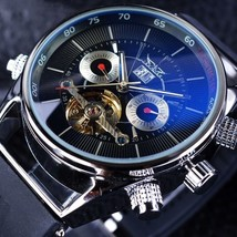 Tourbillon Automatic Mechanical Mens Wrist Watch Luxury Shark Sport Rubb... - $67.88