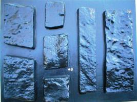 OKL-43 - 5 SETS OF CONCRETE LIMESTONE MOLDS (43) MAKE 1000s OF ROCK WALL VENEER image 3