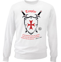 Knight Templar Youa Re Lost 1 - New White Cotton Sweatshirt - $34.38
