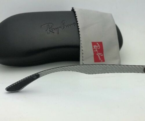Neu Ray-ban Brille Tech RB 8416 2916 55-17 Schwarz & Gunmetal W / Carbon Faser